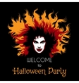 Welcome to Halloween Party Poster vector image vector image