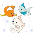 fish cartoon style vector image