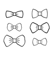 Hand-drawn bowties set vector image