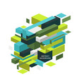 abstract colorful geometric isometric background vector image