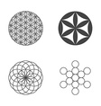 Flower of Life set of icons design elements vector image