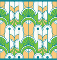 abstract art green line seamless pattern vector image