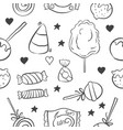 art candy hand draw doodles vector image vector image