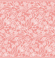 beautiful seamless pattern with summer flowers and vector image vector image