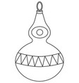 black and white line art christmas tree decoration vector image vector image