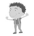 Boy standing vector image vector image