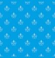 brazil fruit pattern seamless blue vector image vector image