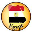 button Egypt vector image vector image