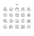 cloud computing well-crafted pixel perfect icons vector image