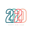 colorful happy new year 2020 text design vector image vector image
