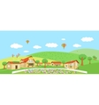 Country landscape with villages Summer vector image vector image