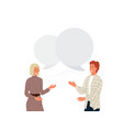 couple people talking background young vector image vector image
