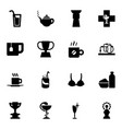 cup icons vector image vector image