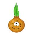 cute cartoon onion character vector image