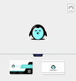 Cute penguin icon logo template and logo