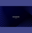 dark blue dynamic abstract background with wave vector image vector image