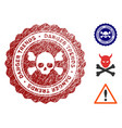 death danger trends watermark with dirty surface vector image vector image
