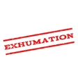 Exhumation Watermark Stamp vector image