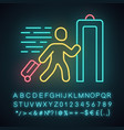 Express entry neon light icon passenger passing