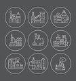 Factory Line Icons vector image