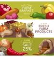 Farmers Market Horizontal Banners Set vector image