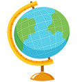 Globe with stand on white background vector image vector image
