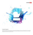 gloves icon - watercolor background vector image