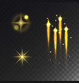 glowing lights effect stars effect glow vector image vector image