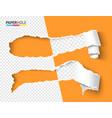 half empty torn paper pieces scroll vector image vector image