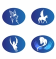 Horse wings logo symbol vector image