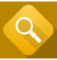 icon of Magnifier with a long shadow vector image