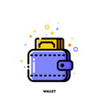 icon of wallet with banknote for money concept vector image