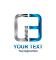 initial letter ge or g3 logo template colored vector image vector image