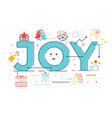 joy word lettering vector image vector image