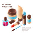 makeup collection isometric professional beauty vector image vector image