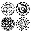 mandala pattern set bohemian yoga design vector image