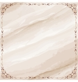Marble background with ornate frame border vector image vector image