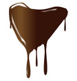 melting chocolate heart vector image