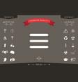 menu icon symbol vector image