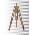 mock up retro style tripod isolated on transparent vector image