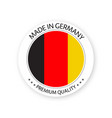 modern made in germany label german sticker vector image