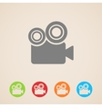 movie camera icons vector image vector image