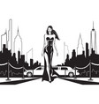 movie star goes to party in new york vector image vector image