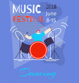 music dancing summer festival poster flat template vector image vector image