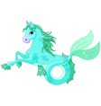 Mythological sea horse vector image