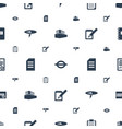 note icons pattern seamless white background vector image vector image
