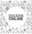 online education background vector image
