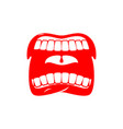 open mouth isolated shout and scream tongue and vector image vector image