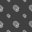 paper clip icon sign Seamless pattern on a gray vector image vector image