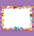 paper template with instruments on border vector image vector image